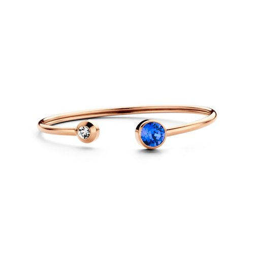 CO88 Rose Gold Steel Ion Plated Swarovski Bracelet 8CB-90257