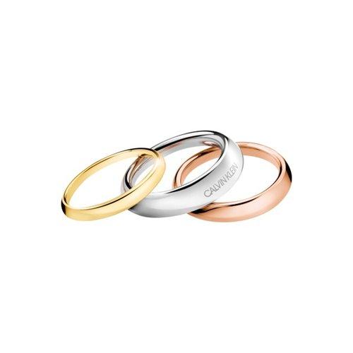CALVIN KLEIN Groovy Stainless Steel Set Ring KJ8QDR3001