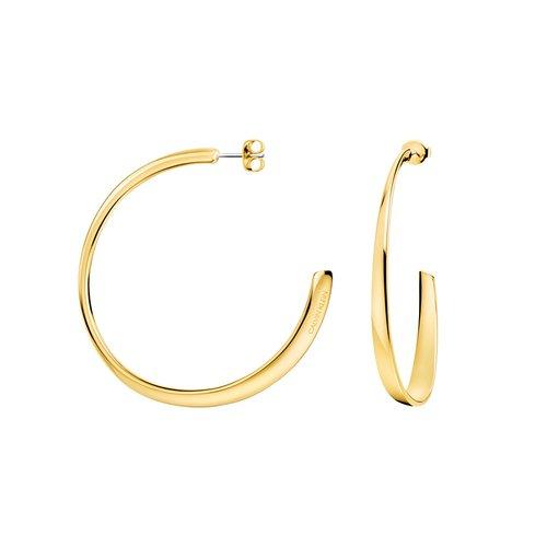 CALVIN KLEIN Groovy Gold Stainless Steel Earrings KJ8QJE100100