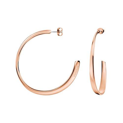 CALVIN KLEIN Groovy Rose Gold Stainless Steel Earrings KJ8QPE100100