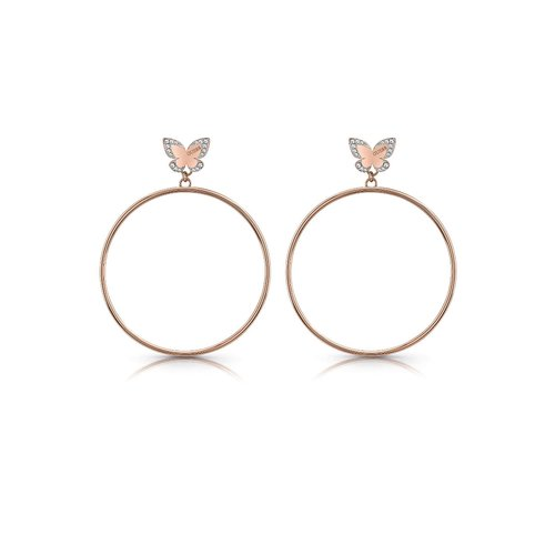 GUESS Steel Rose Gold Earrings UBE78015