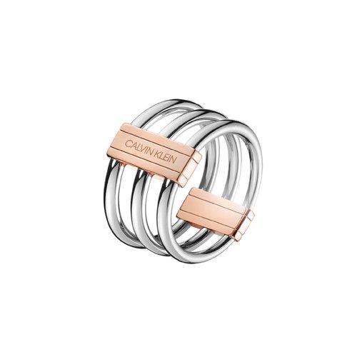 CALVIN KLEIN In Sync Stainless Steel Ring KJBDPR2001