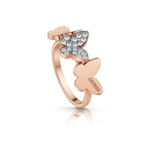 GUESS Steel Rose Gold Ring UBR78005