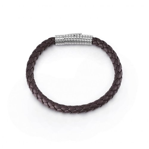 GUESS Leather Stainless Steel Bracelet UMB85007