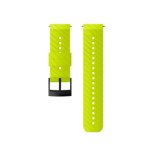 SUUNTO 24mm Athletic 3 Lime Black Silicon Strap SS050157000