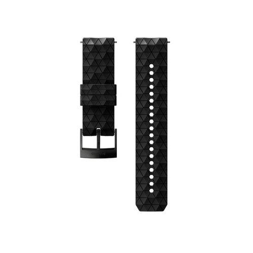 SUUNTO 24mm Explore 2 Black Black Silicon Strap SS050158000