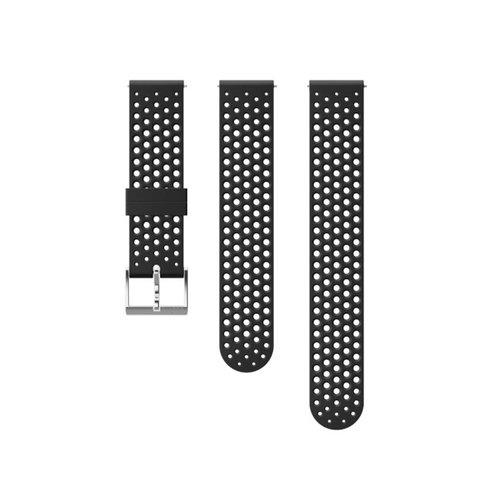 SUUNTO 20mm Athletic 1 Black Steel Silicon Strap SS050175000