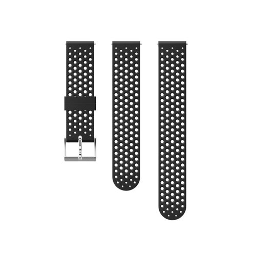 SUUNTO 20mm Athletic 1 Black Steel Silicon Strap SS050175000