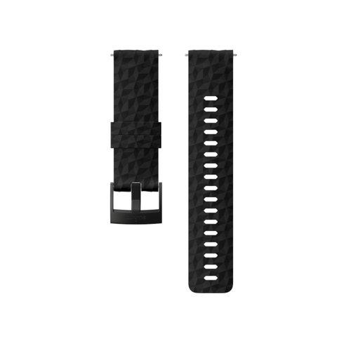 SUUNTO 24mm Explore 1 Black Black Silicon Strap SS050221000