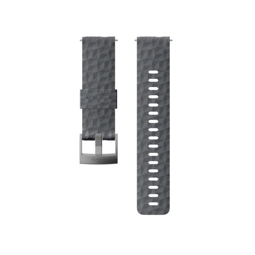 SUUNTO 24mm Explore 1 Graphite Gray Silicon Strap SS050222000