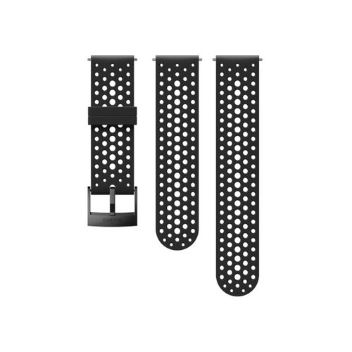 SUUNTO 24mm Athletic 1 Black Black Silicon Strap SS050225000