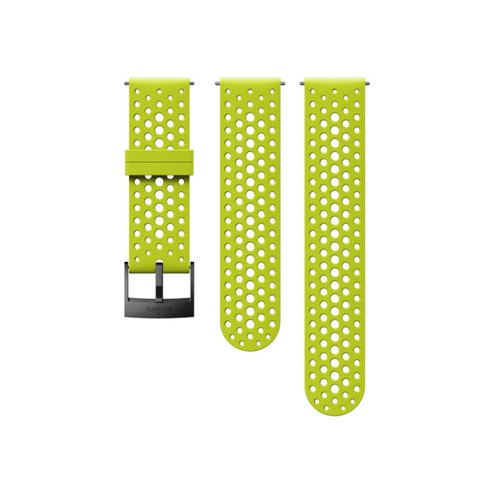 SUUNTO 24mm Athletic 1 Lime Black Silicon Strap SS050226000