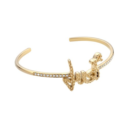 JUST CAVALLI Logo Gold Stainless Steel Bracelet JCBA00590200
