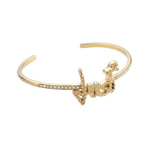 JUST CAVALLI Logo Gold Stainless Steel Bracelet JCBA00590200