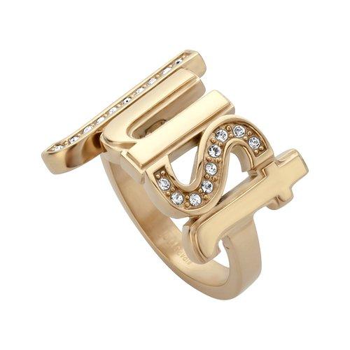 JUST CAVALLI Logo Gold Stainless Steel Ring JCRG00600207