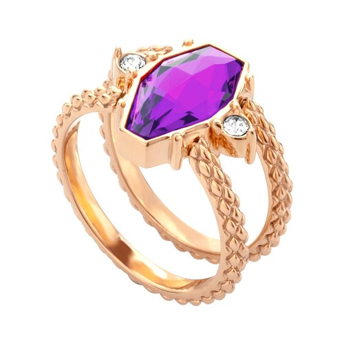 JUST CAVALLI Rock Rose Gold Stainless Steel Ring JCRG00640306