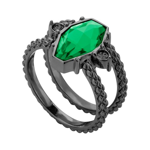 JUST CAVALLI Rock Black Stainless Steel Ring JCRG00640406