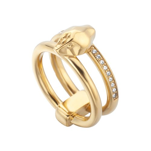 JUST CAVALLI Animal Gold Stainless Steel Ring JCRG00650208
