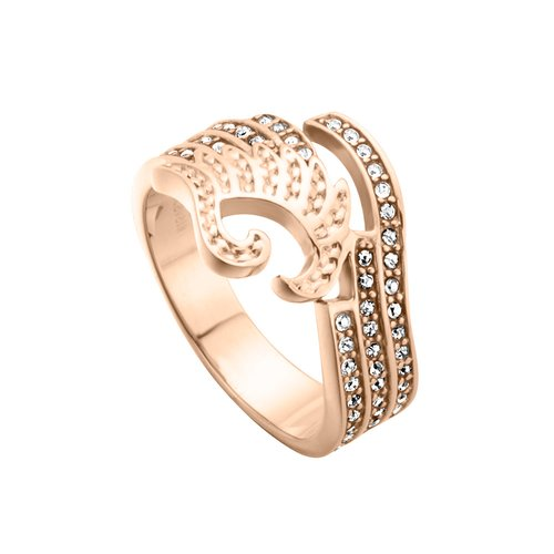 JUST CAVALLI Glam Chic Rose Gold Stainless Steel Ring JCRG00670308