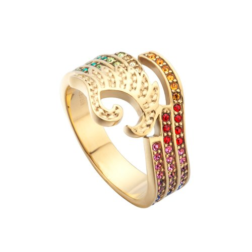 JUST CAVALLI Glam Chic Gold Stainless Steel Ring JCRG00670407