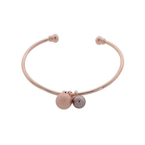 VISETTI Rose Gold Brass Pearl Bracelet MS-WBR041G