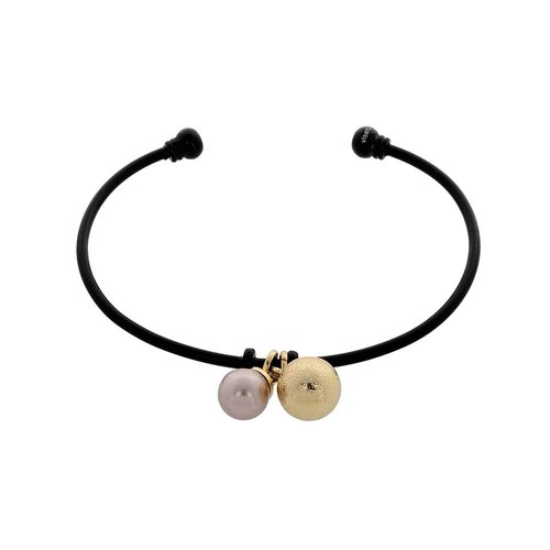VISETTI Black Brass Pearl Bracelet MS-WBR041GU