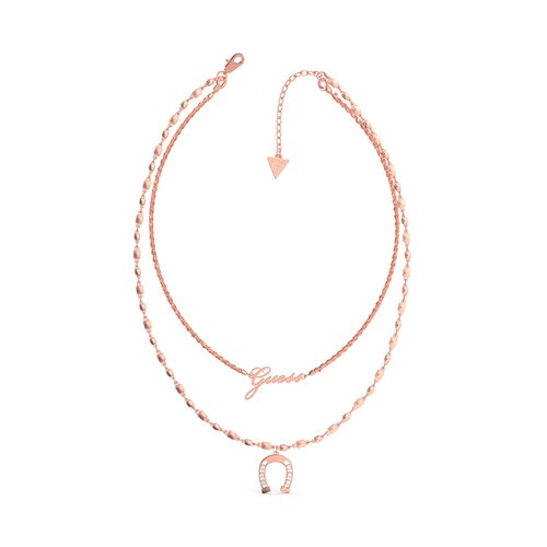 GUESS Steel Rose Gold Necklace UBN29008