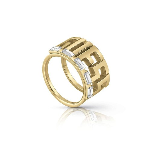 GUESS Steel Gold Ring UBR78012