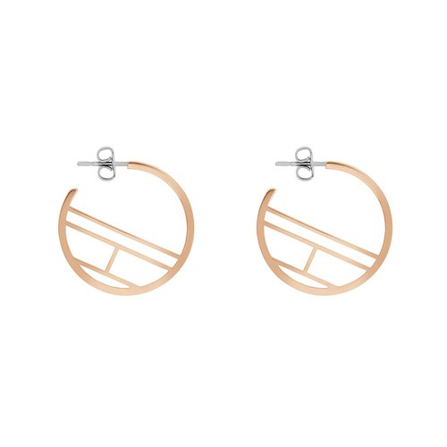 TOMMY HILFIGER Rose Gold Stainless Steel Earrings 2780330
