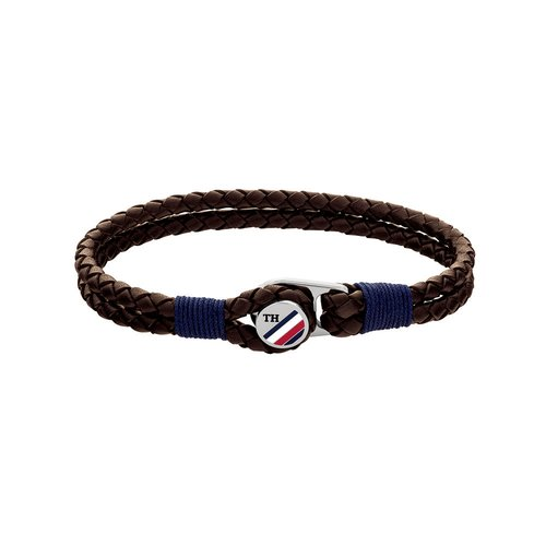 TOMMY HILFIGER Leather Stainless Steel Bracelet 2790196S