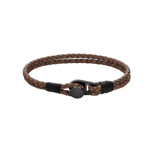 TOMMY HILFIGER Leather Stainless Steel Bracelet 2790198S