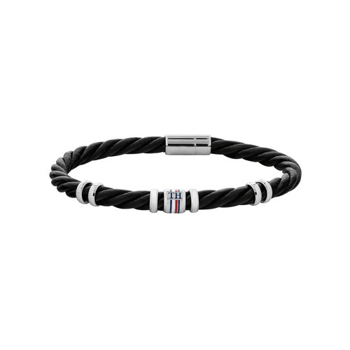 TOMMY HILFIGER Leather Stainless Steel Bracelet 2790199S