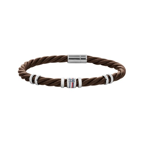 TOMMY HILFIGER Leather Stainless Steel Bracelet 2790200S