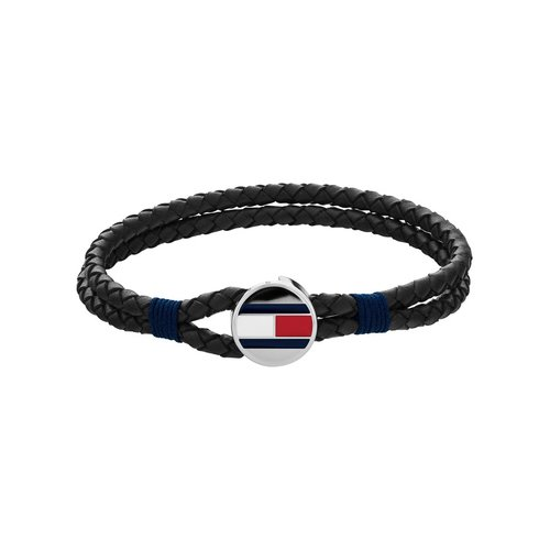 TOMMY HILFIGER Leather Stainless Steel Bracelet 2790205S