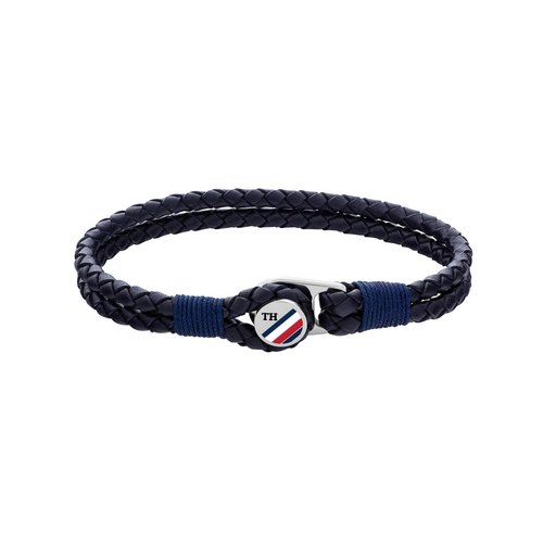TOMMY HILFIGER Leather Stainless Steel Bracelet 2790221S