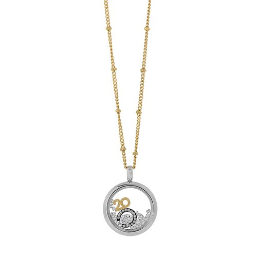 VISETTI Lucky Charm Stainless Steel Necklace SM-WKD202