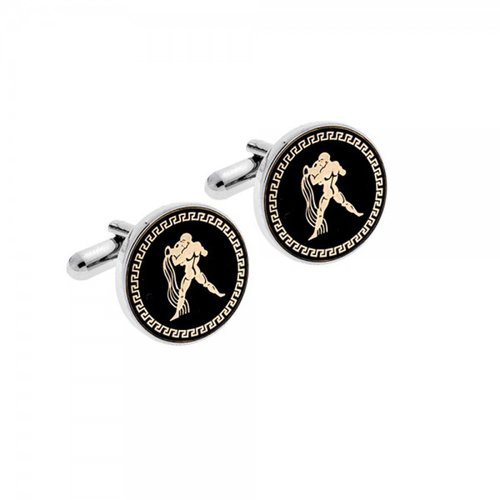 SENZA Silver Brass Aquarius Cufflinks SSD2015