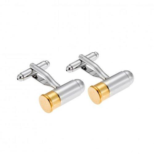 SENZA Silver Gold Brass Cufflinks SSD3956