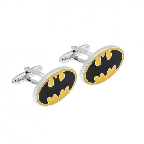 SENZA Silver Brass Black Yellow Cufflinks SSD3963