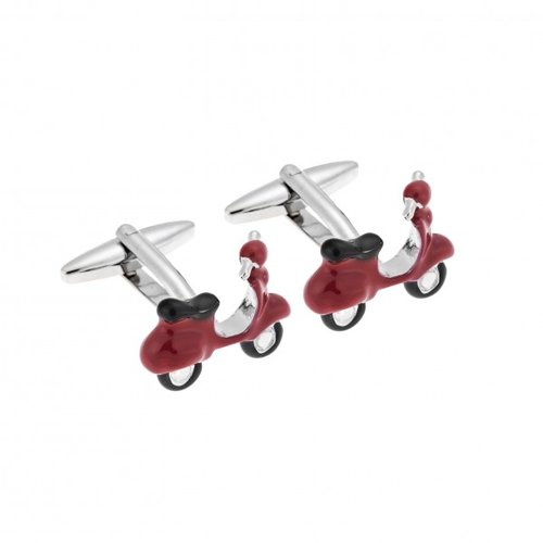 SENZA Silver Brass Red Cufflinks SSD3979