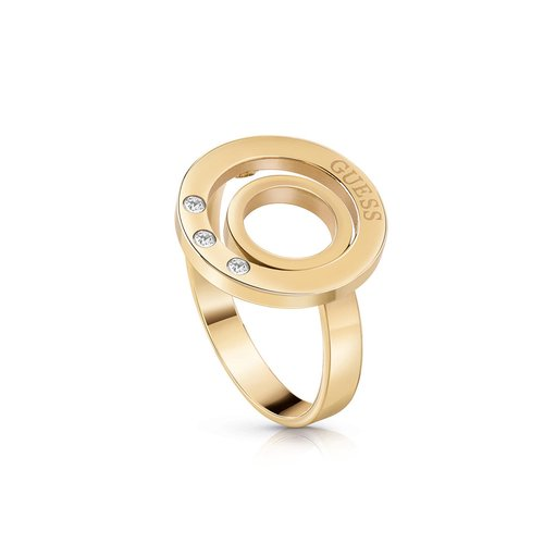 GUESS Steel Gold Ring UBR29007