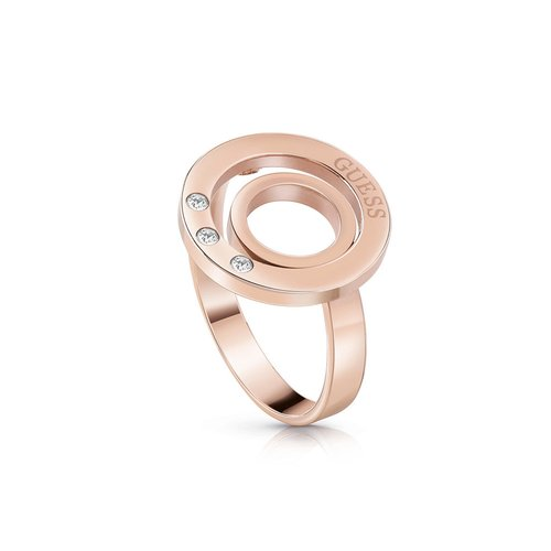 GUESS Steel Rose Gold Ring UBR29008