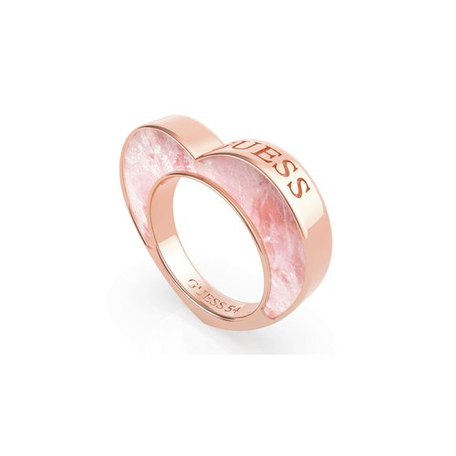 GUESS Steel Rose Gold Ring UBR79017