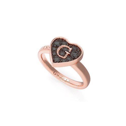 GUESS Steel Rose Gold Ring UBR79031