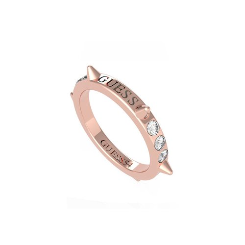 GUESS Steel Rose Gold Ring UBR79033