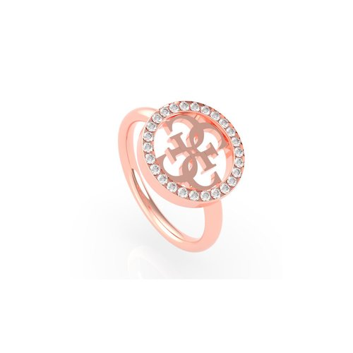 GUESS Steel Rose Gold Ring UBR79039