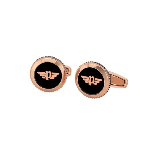 POLICE Klevan Rose Gold Stainless Steel Cufflinks 26546CSR-02