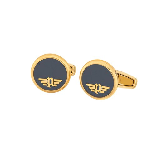 POLICE Sedlec Gold Stainless Steel Cufflinks 26550CSG-02