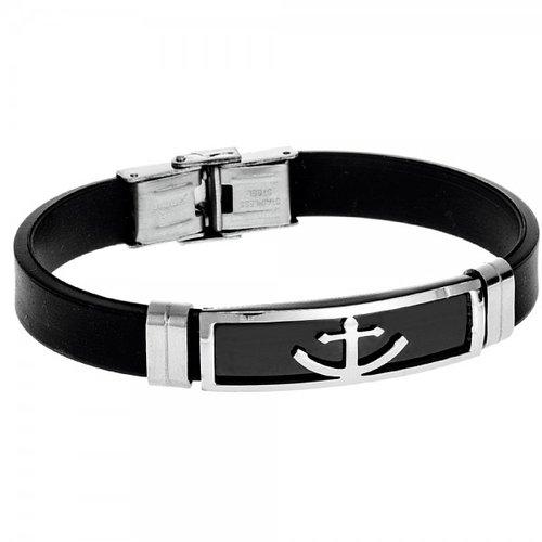 SENZA Steel Leather Bracelet SSD3234SR
