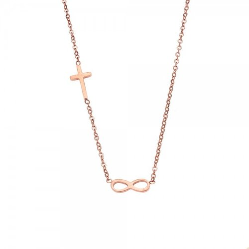 SENZA Steel Rose Gold Plated Necklace SSD3387RG